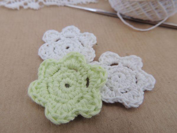 Вяжем небольшой цветок за 7 минут   Ярмарка Мастеров - ручная работа, handmade