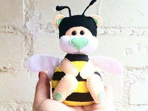 Фетро-выкройка мини-мишки-пчелки и мои рекомендации | Ярмарка Мастеров - ручная работа, handmade