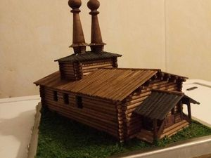 Делаем миниатюру церкви в урочище Введенское-Борисовка. Ярмарка Мастеров - ручная работа, handmade.