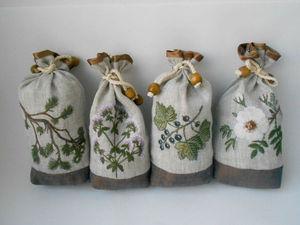 Комплект мешочков для чая №10. Ярмарка Мастеров - ручная работа, handmade.