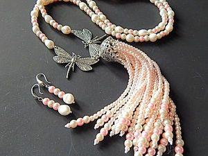 "Сотуар и серьги ""Бабочки"". Ярмарка Мастеров - ручная работа, handmade."