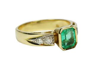 Классический шик! 1,93 TCW колумбийский изумруд & бриллиантовое кольцо 18 к!   Ярмарка Мастеров - ручная работа, handmade