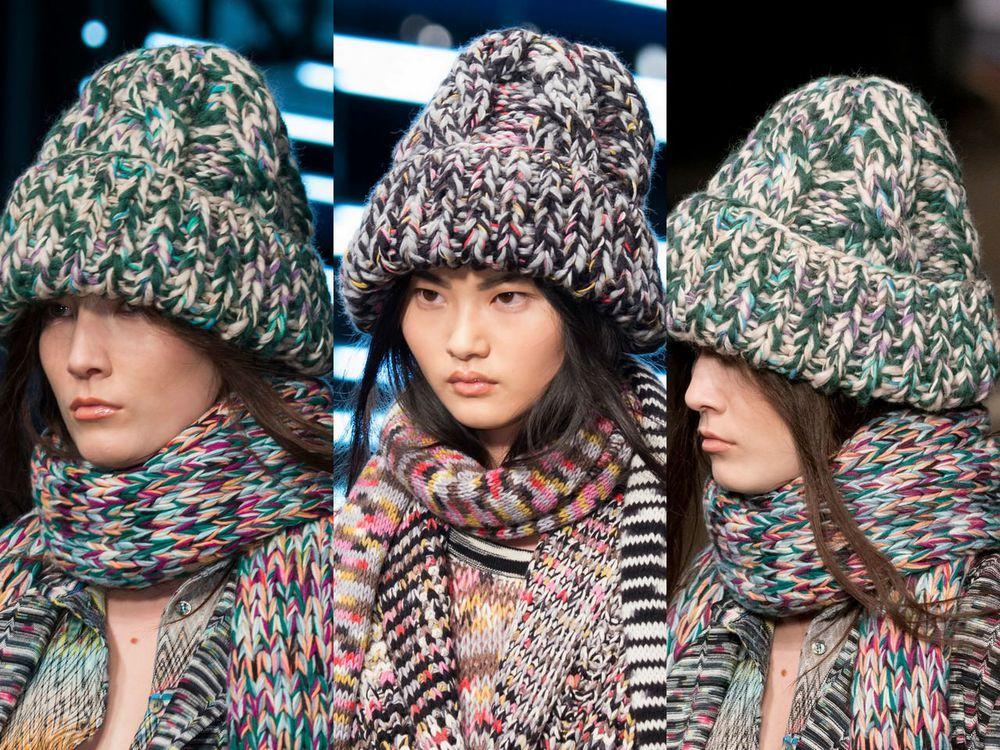 какие зимние шапки сейчас в моде фото