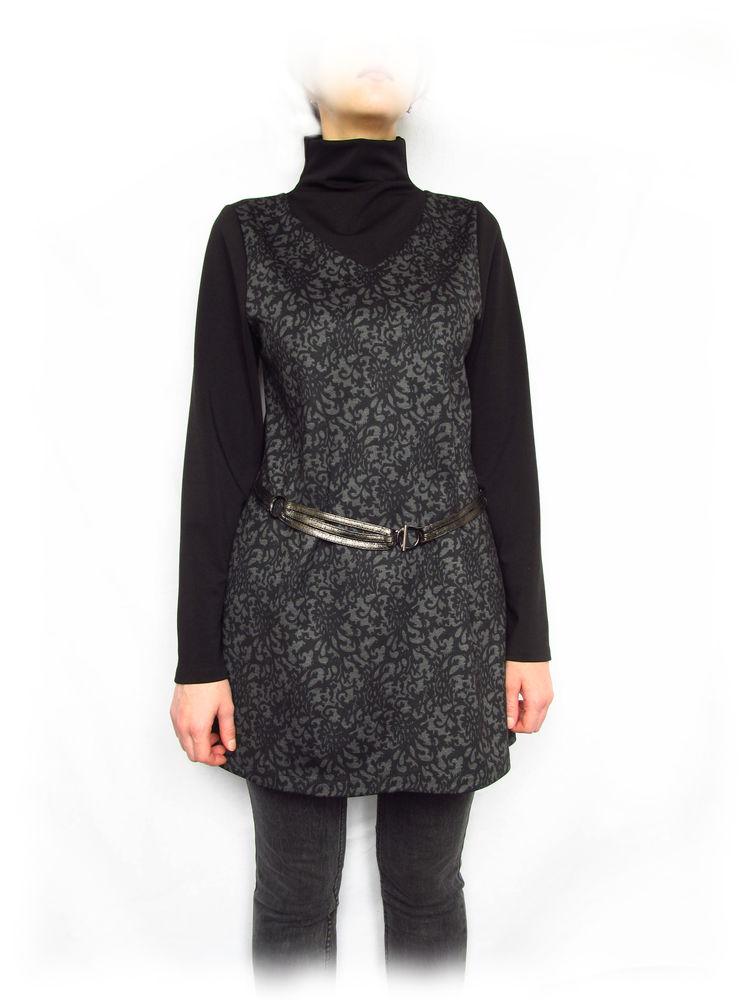 туника черная, платье туника черное