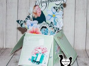 Оригенальный вариант исполнения поздравительных открыток! | Ярмарка Мастеров - ручная работа, handmade