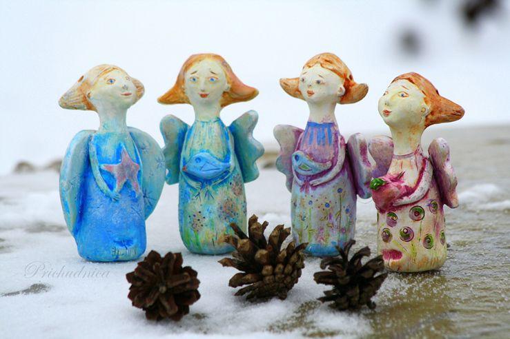 ангел рождества, авторское, корзинка крючком