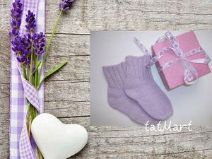 Детские носочки спицами с пяткой