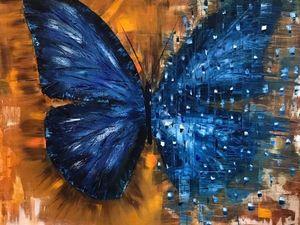Видео мастер-класс: Пишем маслом картину «Бабочка» используя резиновый шпатель. Ярмарка Мастеров - ручная работа, handmade.