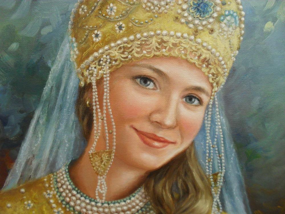 Нарисованные русские красавицы картинки