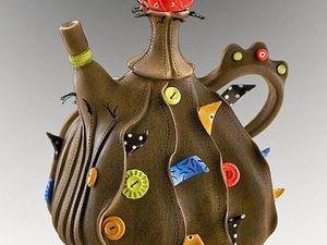 Sewn-Like Porcelain Teapots by Laura Peery. Livemaster - handmade