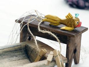 Крыса с корытом и крыс с золотой рыбкой. Ярмарка Мастеров - ручная работа, handmade.
