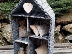 Закрыт! Последний в этом году аукцион с нуля на плетеный домик-полку  Там, где ждут!. Ярмарка Мастеров - ручная работа, handmade.