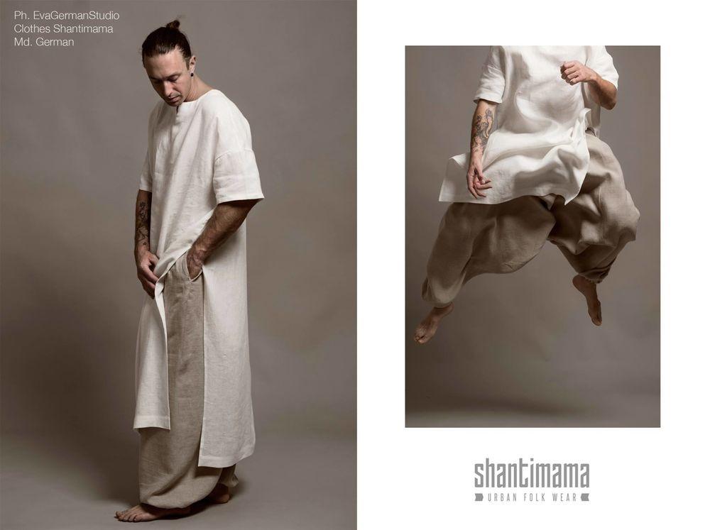 лагенлук, женская одежда из льна
