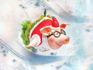 """Handmade """"Piggy Pilot"""" Christmas Toy. Symbol of 2019. Livemaster - handmade"""