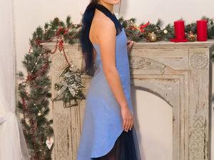 Валяное платье  «Речка». Ярмарка Мастеров - ручная работа, handmade.