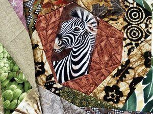 """Лоскутное одеяло для подростка """"Дикая Африка"""", часть 4. Ярмарка Мастеров - ручная работа, handmade."""