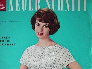 Neuer Schnitt — старый немецкий журнал мод 4/1959. Ярмарка Мастеров - ручная работа, handmade.