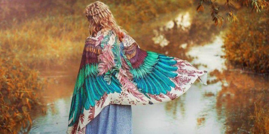 Когда вырастают крылья: завораживающие палантины Розы Хамитовой, фото № 6