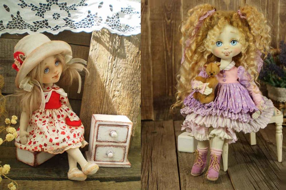 Картинки самодельные куклы