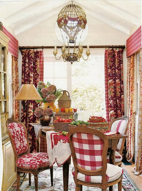 French Country Decor: Decorate With Buffalo Checks For Charming Interiors - Lots of great inspiration!