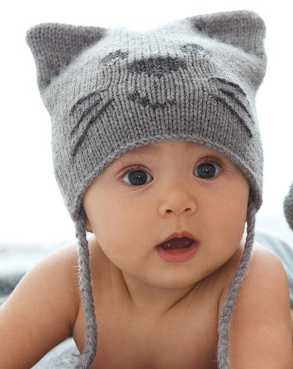 вязаные шапочки детские