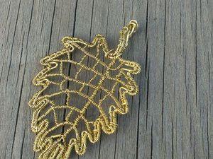 Создание кулона «Осенний лист». Ярмарка Мастеров - ручная работа, handmade.