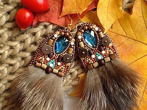 Boycott the Autumn Depression: Make Fashionable Earrings with Fur and Beads. Livemaster - handmade