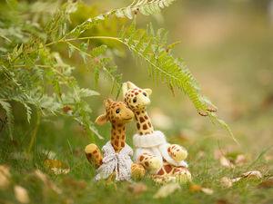 Осенний лес и мои зверюшки. Ярмарка Мастеров - ручная работа, handmade.