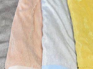 Модный тренд — ткань плиссе золото серебро розовое голубое для нарядного платья юбки на выпускной. Ярмарка Мастеров - ручная работа, handmade.