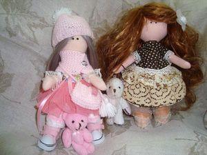 Знакомьтесь ! Виолетта и Гретхен - мои первые куколки.. Ярмарка Мастеров - ручная работа, handmade.