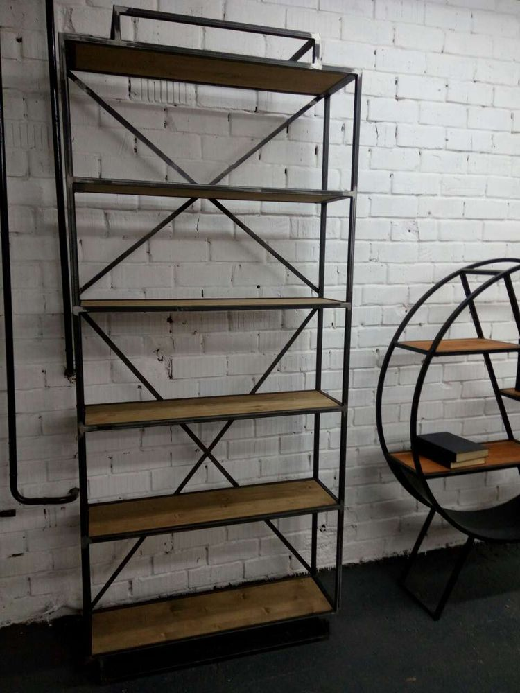 стеллаж лофт, стеллажи в стиле лофт, производство стеллажей, производитель мебели лофт, заказать стеллаж