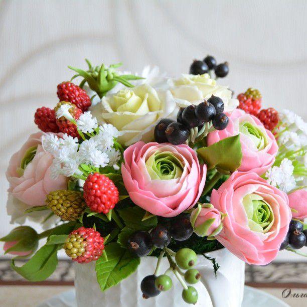 полимерные цветы