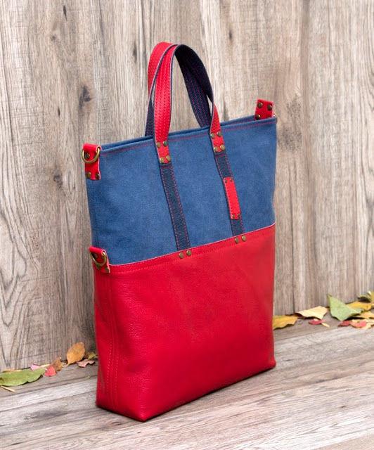 сумка красная
