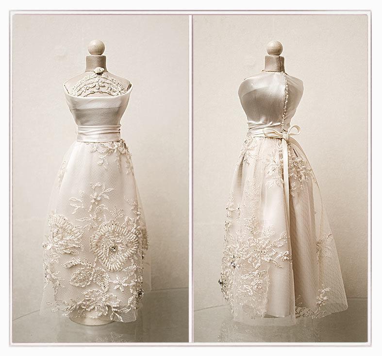 свадьба, атлас, миниатюрное платье