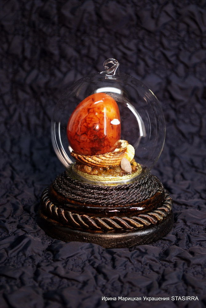 стеклянный шар, карнеол