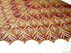 Аукцион! Коричневая шаль из 100% шерсти .. Ярмарка Мастеров - ручная работа, handmade.
