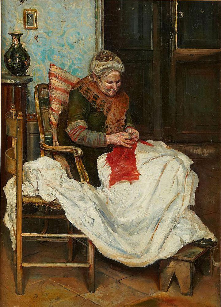 Когда есть чем заняться — стареть некогда: душевные картины о бабушках-рукодельницах, фото № 29