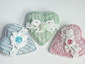 Making Cute Homey Winter Brooch. Imitation of Knitting. Livemaster - handmade