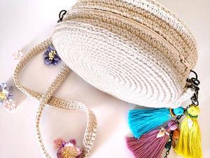 Вшиваем молнию в круглую сумочку из джута. Ярмарка Мастеров - ручная работа, handmade.