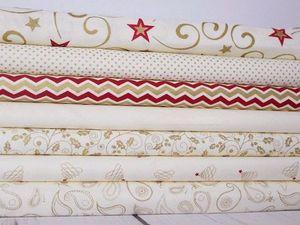 Скидка на новогодние ткани. Ярмарка Мастеров - ручная работа, handmade.