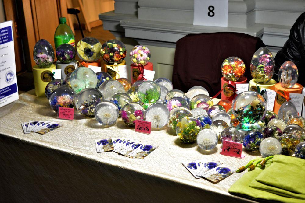 авторское стекло куракины, шар с цветком, петербургская ярмарка