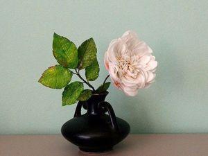 Маленькая пионовидная кустовая розочка из зефирного фоамирана | Ярмарка Мастеров - ручная работа, handmade