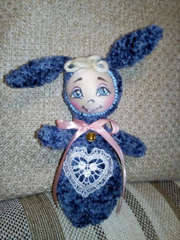 текстильный заяц, украшение интерьера, зайцы