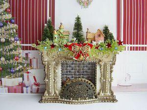 Рождественский  камин с подсветкой. | Ярмарка Мастеров - ручная работа, handmade