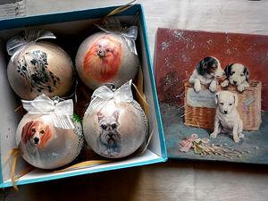 Новогодние шары с символом наступающего Нового года 2018. Ярмарка Мастеров - ручная работа, handmade.
