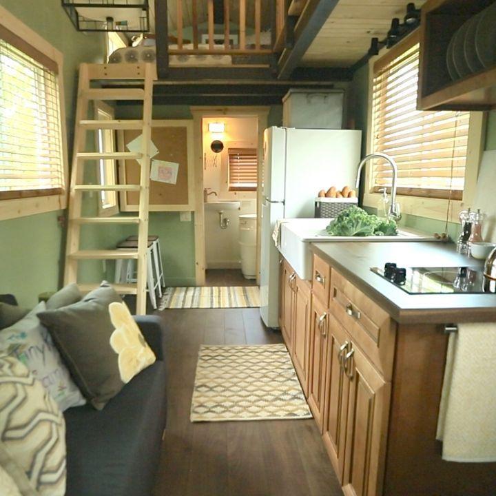 Tiny house full kitchen - Tiny House Nation