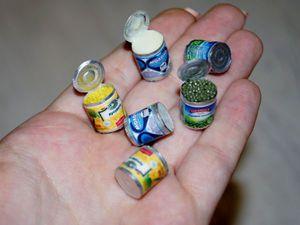 Видео мастер-класс: лепим миниатюру «Консервы» из полимерной глины. Ярмарка Мастеров - ручная работа, handmade.