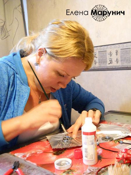 полимерная глина мастер класс , полимерная глина уроки , полимерная глина имитация серебра урок, имитация камня урок, украшения из пластика своими руками
