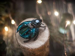 Космос и жуки | Ярмарка Мастеров - ручная работа, handmade