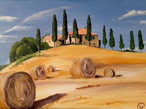 Рисуем итальянский пейзаж акрилом. Ярмарка Мастеров - ручная работа, handmade.